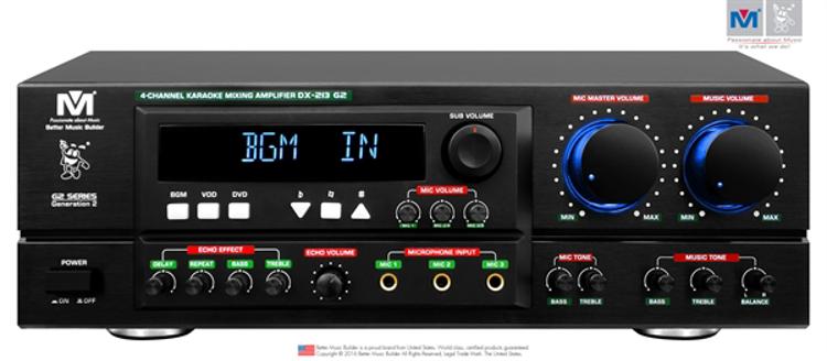 Picture of (M) BETTER MUSIC BUILDER DX-213 G2 KARAOKE MIXING AMPLIFIER 800 WATTS