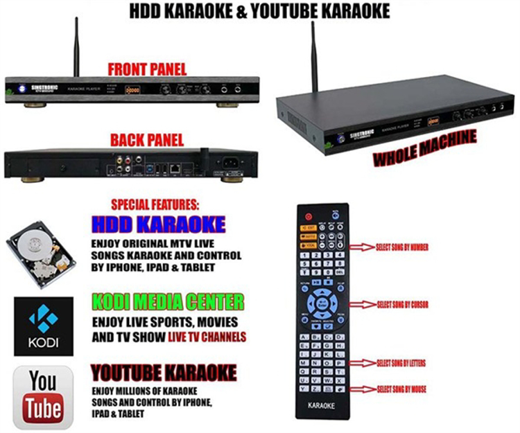 Picture of Singtronic KTV-9000UHD Android Karaoke Player 6TB