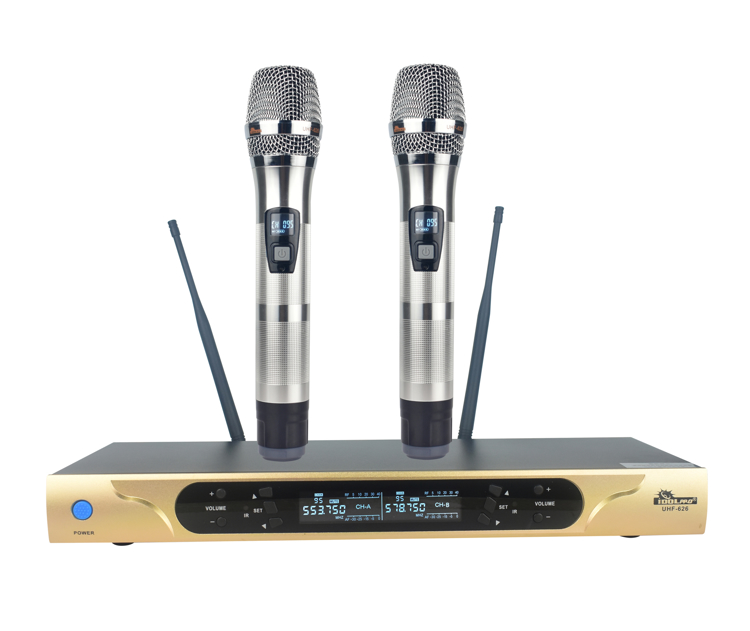 Picture of IDOLpro UHF-626 Dual Channel Wireless Microphones With New Digital Technology NEW 2020
