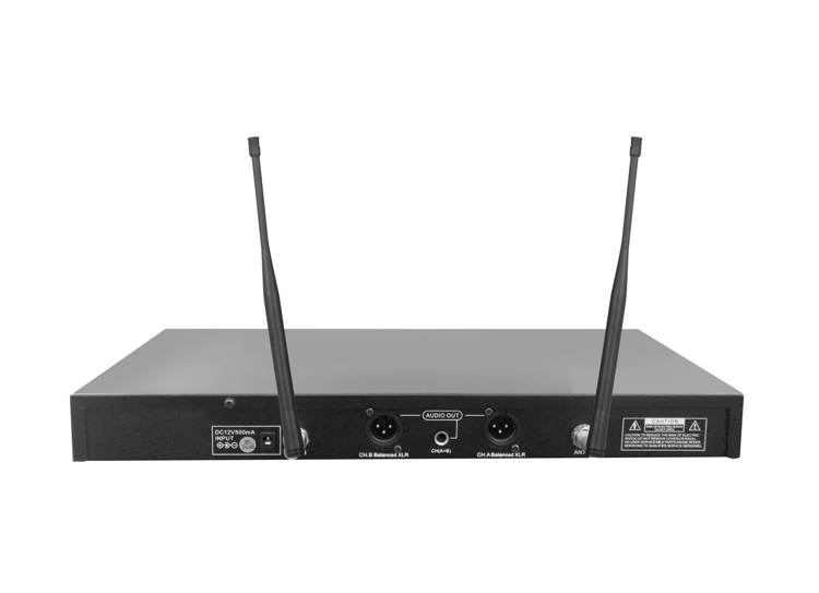 Picture of IDOLpro UHF-530 Advanced Technology Automatic Mute And Shut Down Dual Wireless Microphones NEW 2021