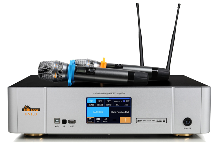 Picture of IDOlpro IP-100 Touch Screen Monitor Professional Digital Amplifier 2 channels 3000 Watts-NEW 2021 MODEL
