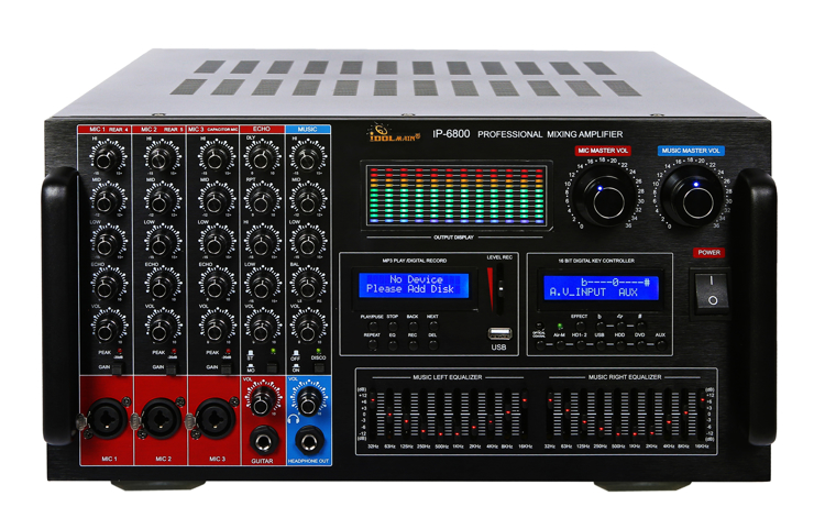 Picture of IDOLmain IP-6800 7000W Professional Digital Echo Console Karaoke Mixing Amplifier With 10 Band Equalizer
